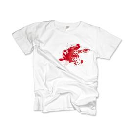 601Rh+ T-shirt damski biały rozmiar S