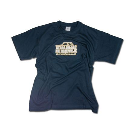 Stara miłość T-shirt męski navy rozmiar M