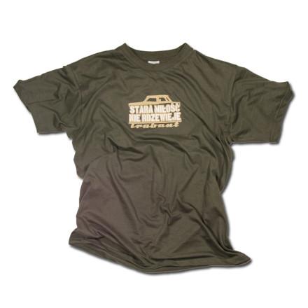 Stara miłość T-shirt męski khaki rozmiar L